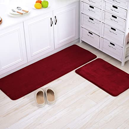 Amazon.com: Red - Kitchen Rugs / Kitchen & Table Linens ...