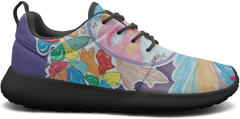 Gjsonmv Carnaval de menimur mask mesh Lightweight shoes for Women Comfortable Sports Bike Sneakers shoes