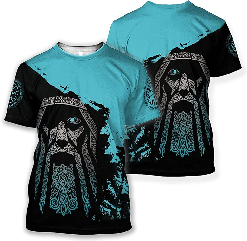 Viking Odin Tattoo Hoodie, Men/Women Vintage Print Couple Suit t Shirt, Pullover, Trousers