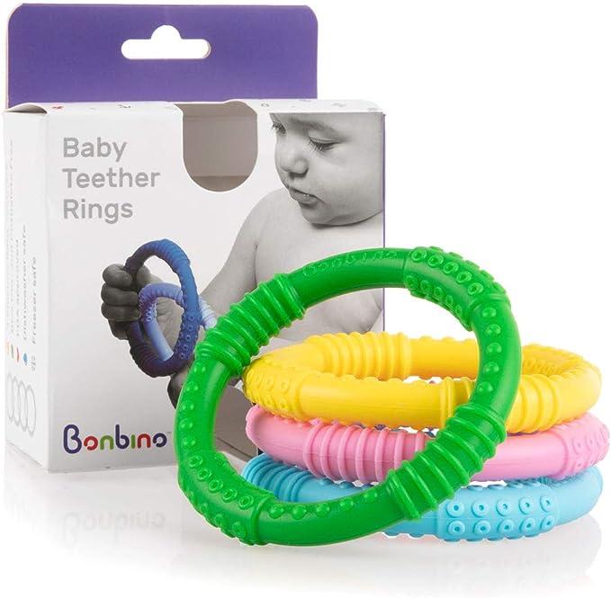890 opinioni per Bonbino- Confezione da 4 massaggiagengive in silicone, Anelli di dentizione per
