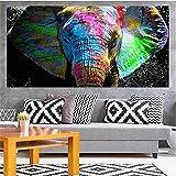 5D Diamond Painting Kits Adultos, tamaño grande Elefante de color 60x200cm DIY Cristal Grande Bordado Pintura Diamante Artes imagen de Punto de Cruz para Decoración de La pared Del Hogar Regalo