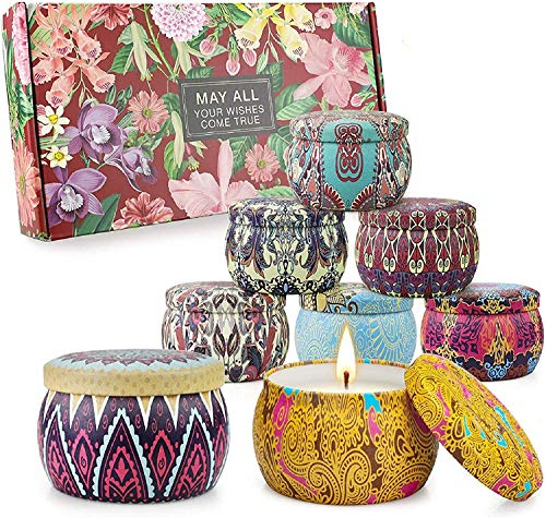 candele profumate set Set di candele profumate Regali per donne Candele per aromaterapia 8 confezioni 35