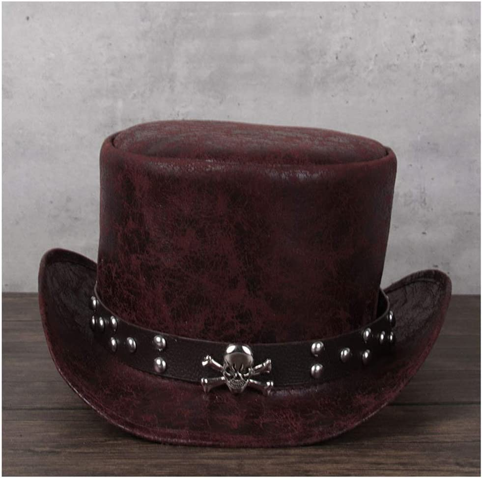 LHZUS Hats Fashion Leather President Men Max sold out 53% OFF Hat Ladies Re Party