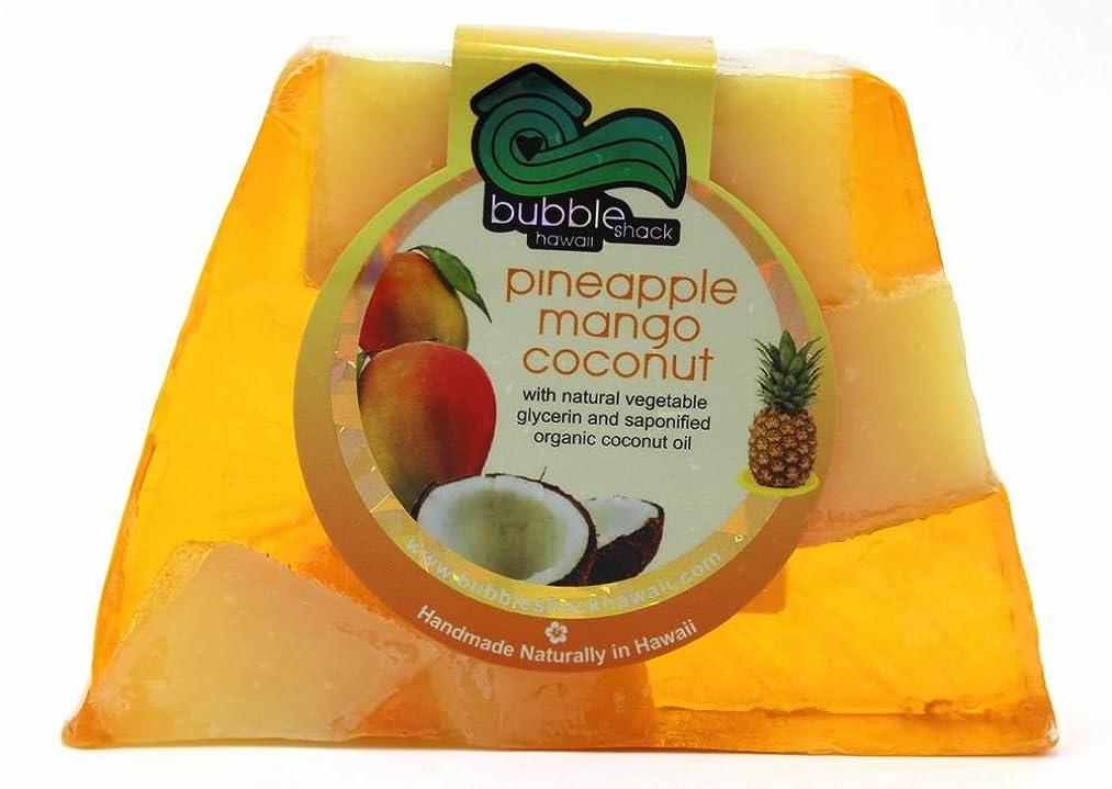 スープ楽観的私たちのものハワイ お土産 ハワイアン雑貨 バブルシャック パイナップル チャンクソープ 石鹸 (マンゴーココナッツ) ハワイ雑貨