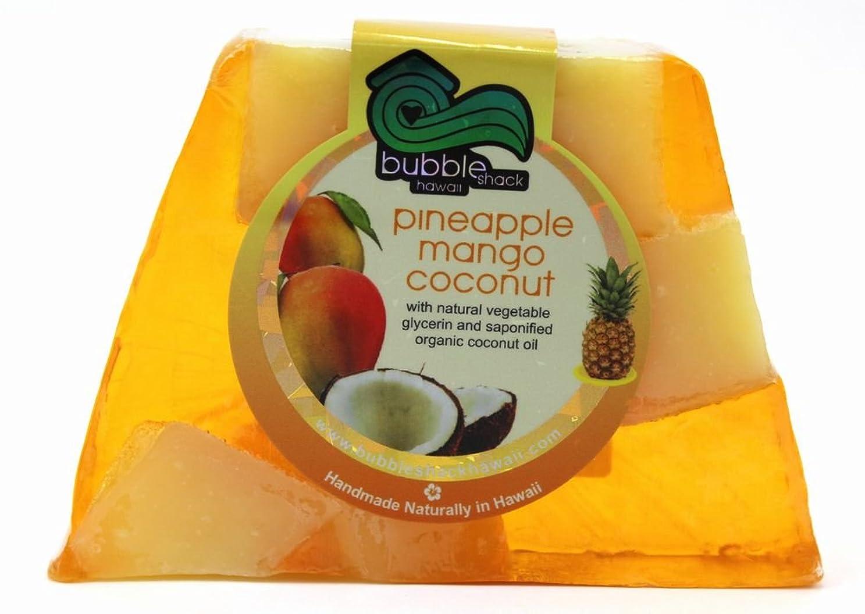役に立つの間で状況ハワイ お土産 ハワイアン雑貨 バブルシャック パイナップル チャンクソープ 石鹸 (マンゴーココナッツ) ハワイ雑貨