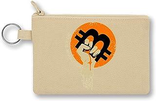 Bitcoin Revolution Monedero de Lona con Cremallera Monedero