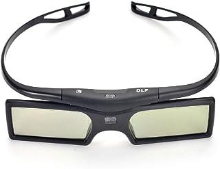 Pergear Detachable 144Hz 3D Active Shutter Glasses for DLP-Link 3D Projector (1 Pair)