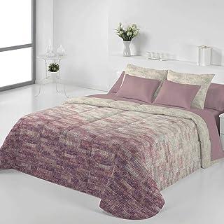 Tejidos Jvr - Edredón Conforter Nórdico Bimba - Cama 135 Cm - Color Malva