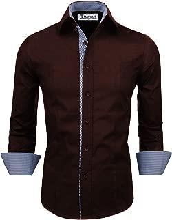 Men Casual Slim Fit Inner Striped Longsleeve Shirt