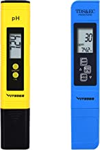 VIVOSUN pH and TDS Meter Combo, 0.05ph High Accuracy Pen Type pH Meter +/- 2% Readout..