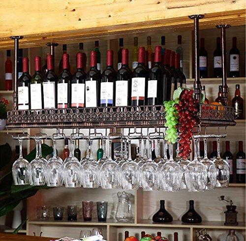 FAFZ-Portacandele Champagne, cremagliera Portacenere da vino Portabicicletta Creative hanging bar Portabiciclette Portabicchiere Portacenere da vino decorazione a testa in giù Scaffali di vino ( dimensioni : L100*W35cm )