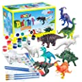 BAODLON Kids Arts Crafts Set Dinosaur Toy Painting Kit - 10 DIY Dinosaur Figurines, Decorate Your Dinosaur, Create a Dino World Painting Toys Gifts for 3,4,5,6,7,8 Year Old Boys Kids Girls Toddlers by Miss August