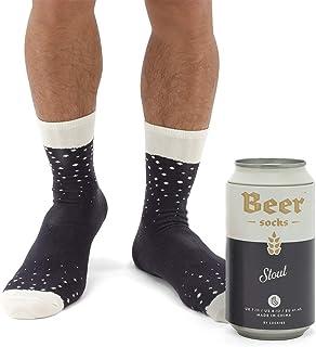 Luckies of London Bière Chaussettes, coton, Noir, 41-45 EU (7-11 UK)
