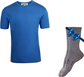 Merino.tech 100% Organic Merino Wool Lightweight Men's T-Shirt + Hiking Wool Socks