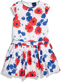 Tommy Hilfiger Women's Adaptive Short Sleeve Woven Dress with Magnetic Closure at Back Neck