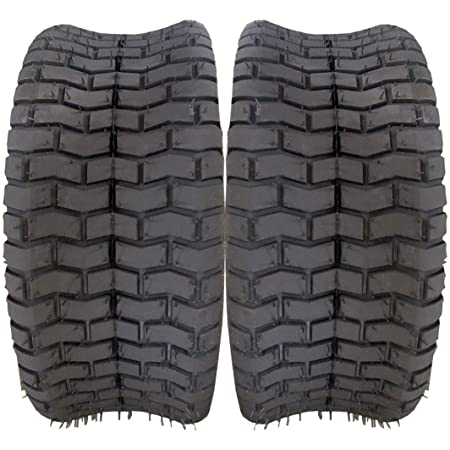 Set of 2 D-265 16x6.50-8 Turf Tires 4 Ply 16-by-6.50-by-8 Tubeless Tires Replacement for Garden Tractor Lawn Mower