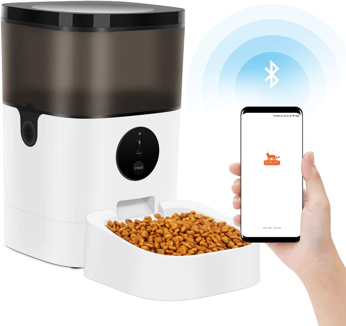 TTPet Automatic Cat Feeder with App Control Dog 5 ☆ very popular Timed Disp Food Super sale