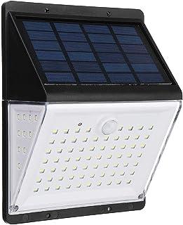 BBZZ Lot de 2 lampes solaires de sécurité 88 LED avec détecteur de mouvement PIR