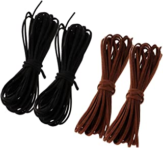 Baoblaze 21yd 100% Real Flat Leather Cord String Necklace Bracelet DIY String Cord