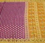 Vintage Saree 100% Pure Silk All Over Zari Woven Polka Dots