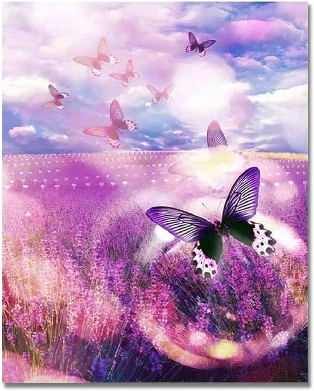 Malen Nach Zahlen Für Kinder Kinder Kinder DIY Butterflys Lavendel Für Erwachsene 40x50cm with Combination Frame B07PRCWX6K | Verbraucher zuerst  bc4684