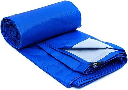 WSGZH écran Solaire De Pluie De Bache De Prougeection Versé épais Et Durables, épaisseur 0.35mm, 180g   M2, 6 Options De Taille, Bleu + Blanc