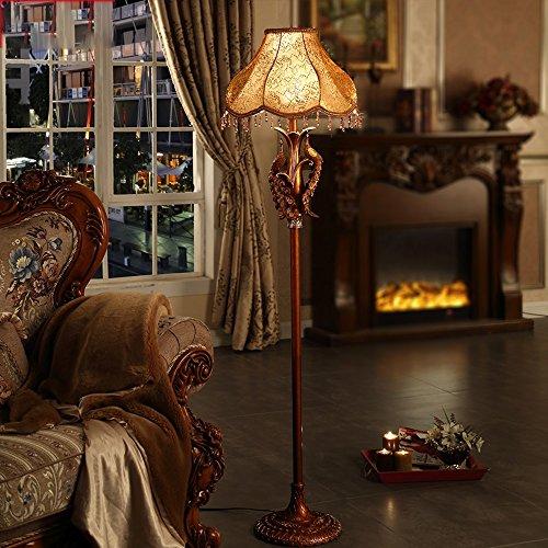 Good thing Lampadaire Lampadaire tissu résine 40 * 168cm salon européen chambre étude chaleureuse pastorale rétro art lumières