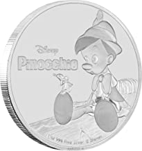 2018 NU Disney Pinocchio Silver Coin - 1 oz. Silver Proof Coin - With all Original Packaging $2 Brilliant Uncirculated
