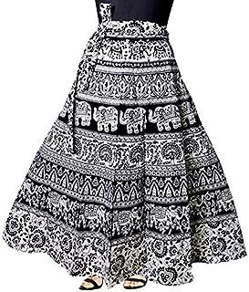 Wrap Round Skirt Black and White