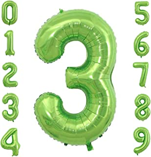 green number balloons