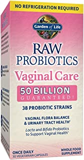 Garden of Life RAW Probiotics Vaginal Care Shelf Stable - 50 Billion CFU Guaranteed through Expiration, Acidophilus - Once...