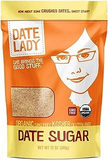 Organic Date Sugar, 12 oz | 100% Whole Food Sweetener | Vegan, Paleo, Gluten-free & Kosher | 100% Ground Dates | Contains ...