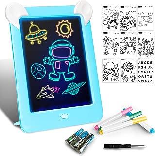 Tableta de Dibujo Pizarra 3D Mágico con Luces LED Educativo Infantil Dibujo & Marco de Fotos Regalos Juguetes para Niños