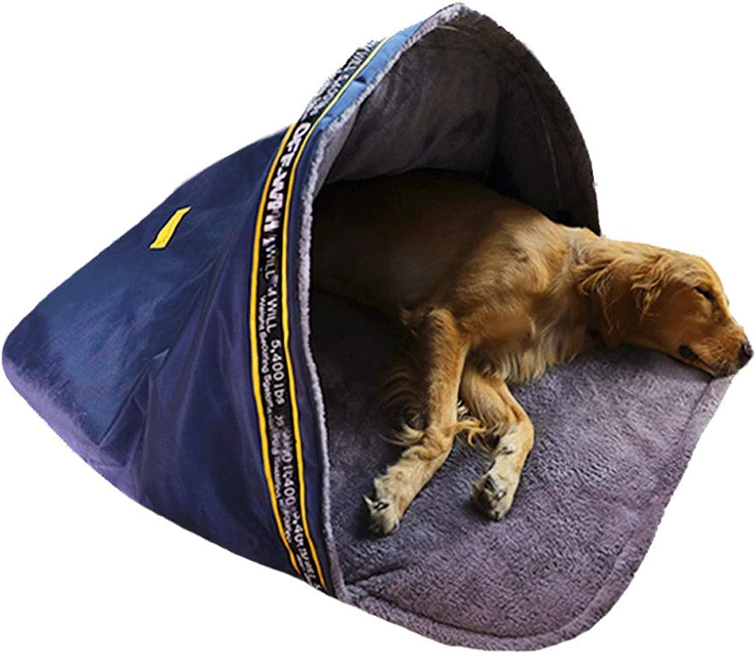 Kennel Winter Warm Medium Large Dog Pet Tent Indoor Enclosed Yurt Carrying A Comfortable Sleeping Bag Tent Dualuse Nest. (Size   75x65x38CM)
