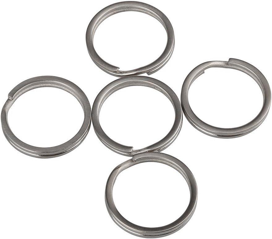 TI-EDC Key Rings Titanium Split Keychain Flat(Pack of 5) 25mm