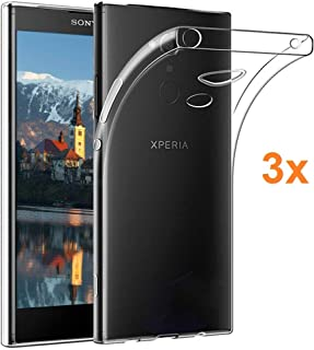 Pack 3X Case Flexible Silicone TPU for Sony Xperia XA2 Plus, Ultra Thin 0.33mm, Crystal Clear