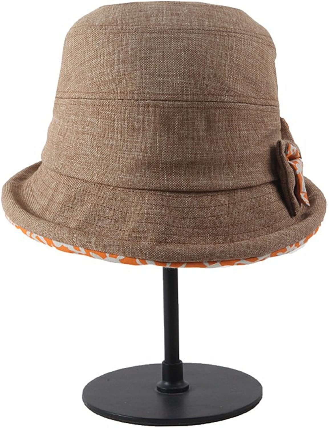 Summer Lady's Hat Cotton Folding Collapsible UV Predection Sun Visor