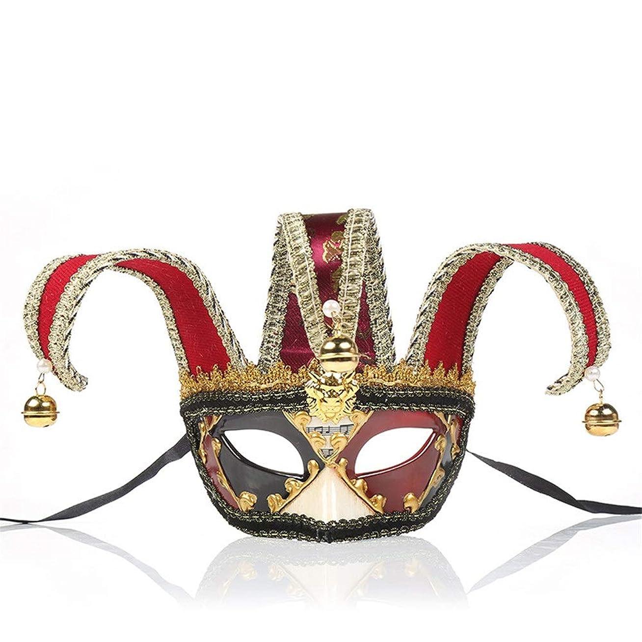 穀物頬輝くダンスマスク 若者の少女ハロウィーンギフトレトロマスクホット販売マスカレードロールプレイング装飾 パーティーボールマスク (色 : 赤, サイズ : 28x16.5cm)