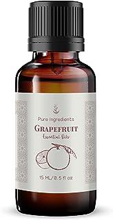 Pure Organic Ingredients Grapefruit Essential Oil (15 ml) Convenient Dropper Cap Bottle, Skin, Energizing & Uplifting Aroma