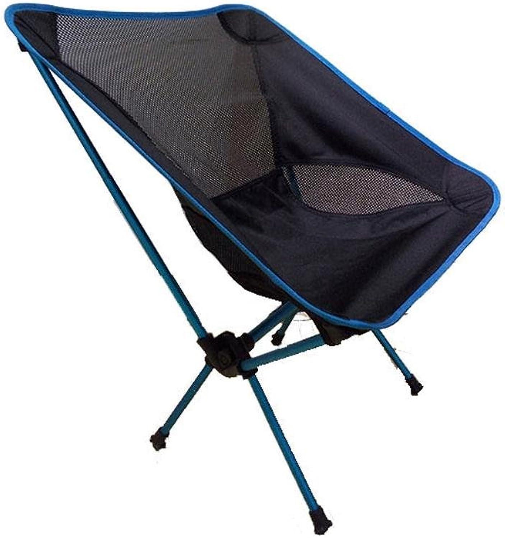 Heruai Camping Picnic Folding Chairs Light Leisure Folding Portable Padded Chair Folding Camping Chair Aluminum Alloy Bracket , day lan