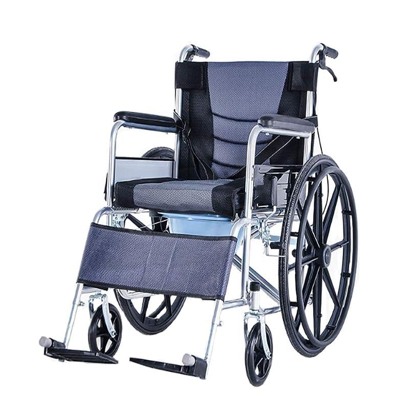 含意船形顕著折り畳み式輸送車いす、大人用室内ポット、自走用車椅子、シート幅45 cm、2層シートクッション
