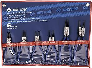 Conjunto com 06 Alicates para Anéis Ext e Int, Kingtony Br, 42116Gp