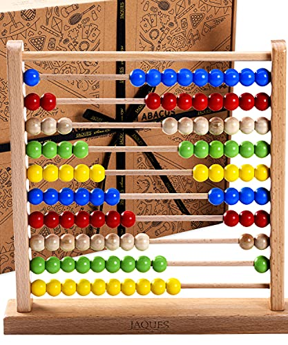 Jaques of London Large Wooden Abacus   Premium Abacus for Kids With Counting Beads   100% Wooden Educational Toys   Quality Learning Toys   Since 1795
