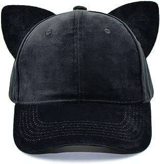 SJX Men Women Large Big Ear Mouse Cat Character Baseball Hat Adjustment Cap Woll Hat