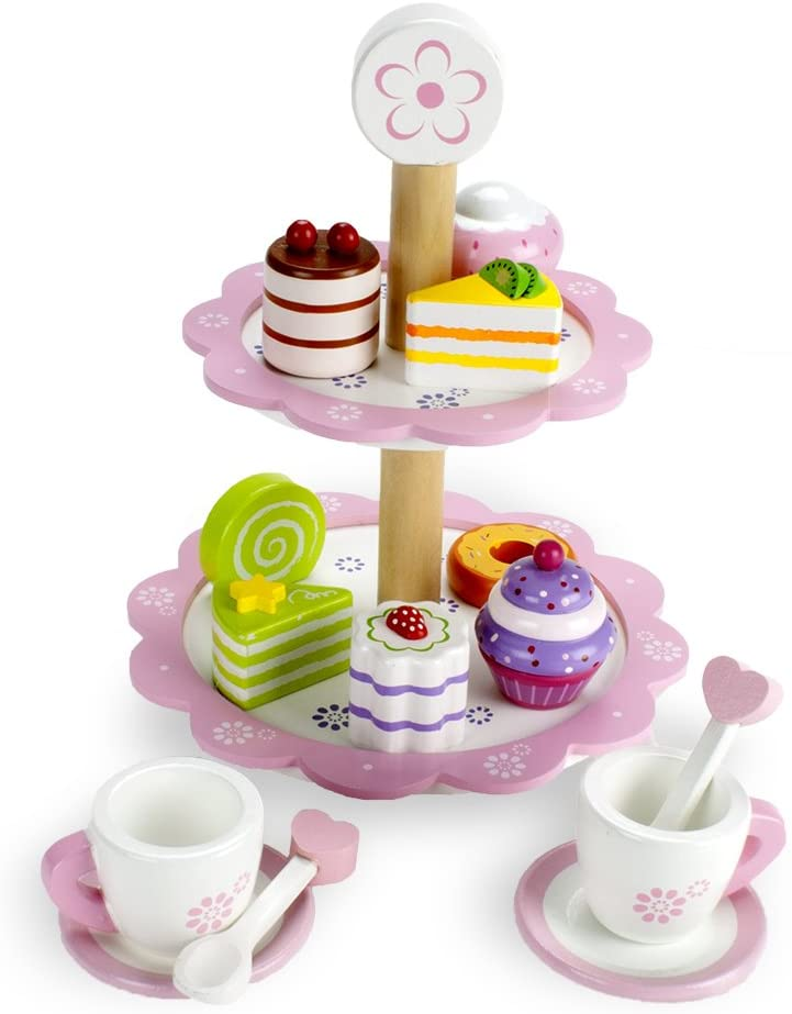 Imagination Generation Wood Eats Tea Time Pastry Max 65% discount OFF Tower De - Toy