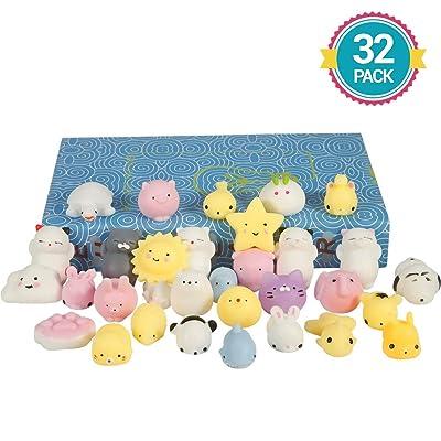 Lumiparty Mochi Squishy Toys 32pcs Mini Squishy...