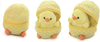 Plushland Plush Stuffed Animal 6 Inches Surprise Zip Up Egg Hideaway   Cute, Yellow Pastel and Polka Dot Easter Colors   Spring Inspired Gift for Girls and Boys Birthday Mother's Day (Easter Chick)