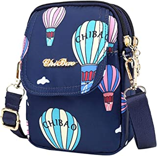 IPOTCH Women's Multi Pocket Shoulder Bag Corss-body Purse Waterproof Nylon Travel Handbags