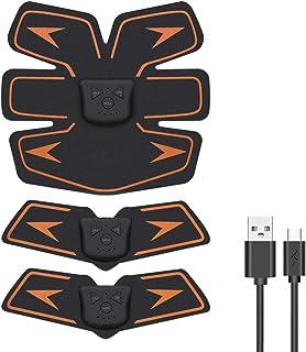 EMSIC EMS 腹筋ベルト USB充電式 腹筋 腕筋 筋トレ器具 トレーニングマシーン 「6種類モード 10段階強度 日本語説明書付属」 (オレンジ)