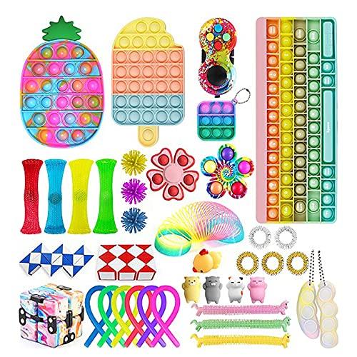 Pacote de brinquedos sensoriais para alívio de estresse, conjunto de brinquedos de bolhas de tamanho grande para teclado infantil TDAH, Toy-b1, tamanho �nico